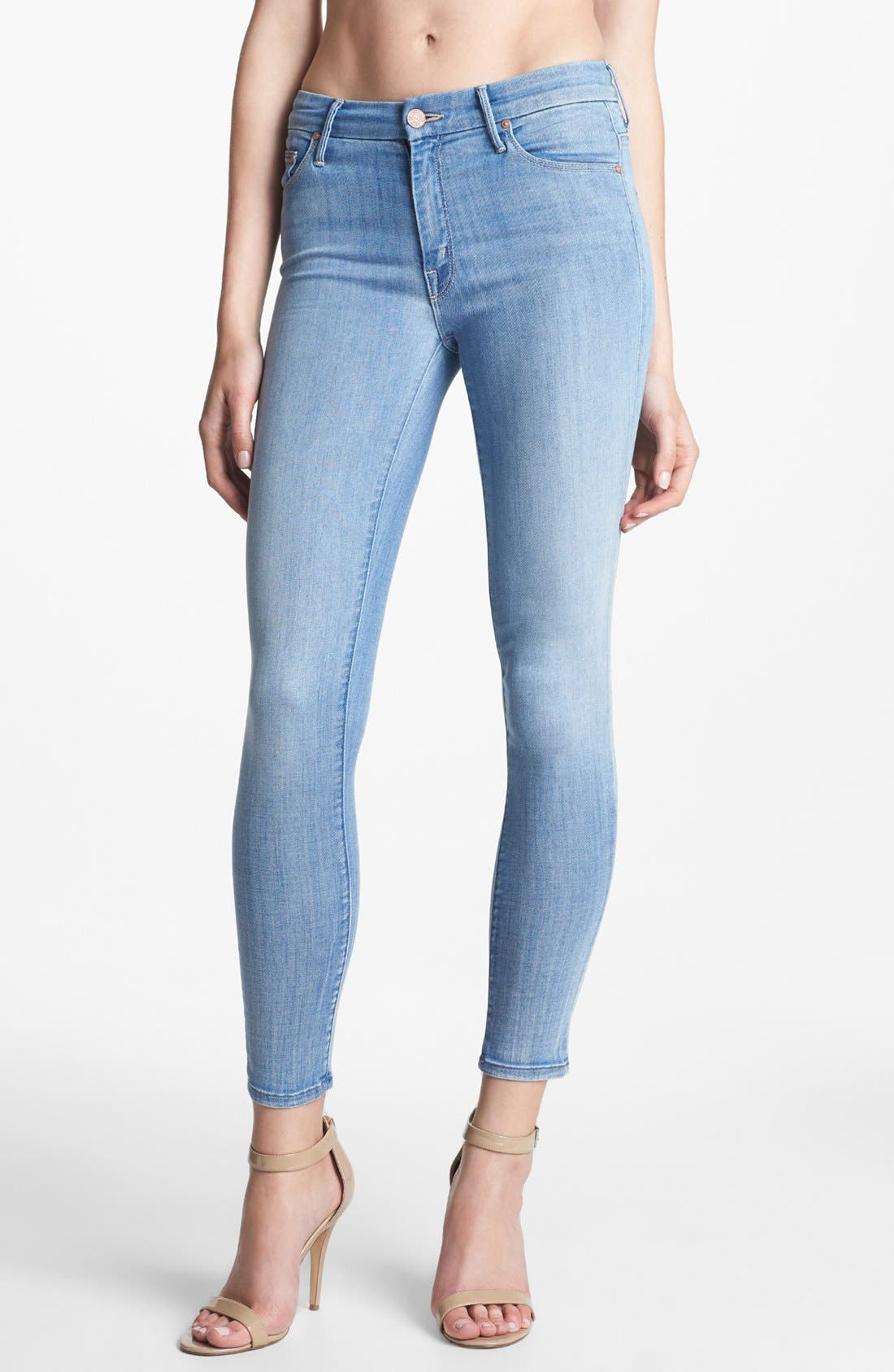 Main Image - MOTHER 'The Looker' Skinny Crop Jeans (Welcome Home Garden Club)