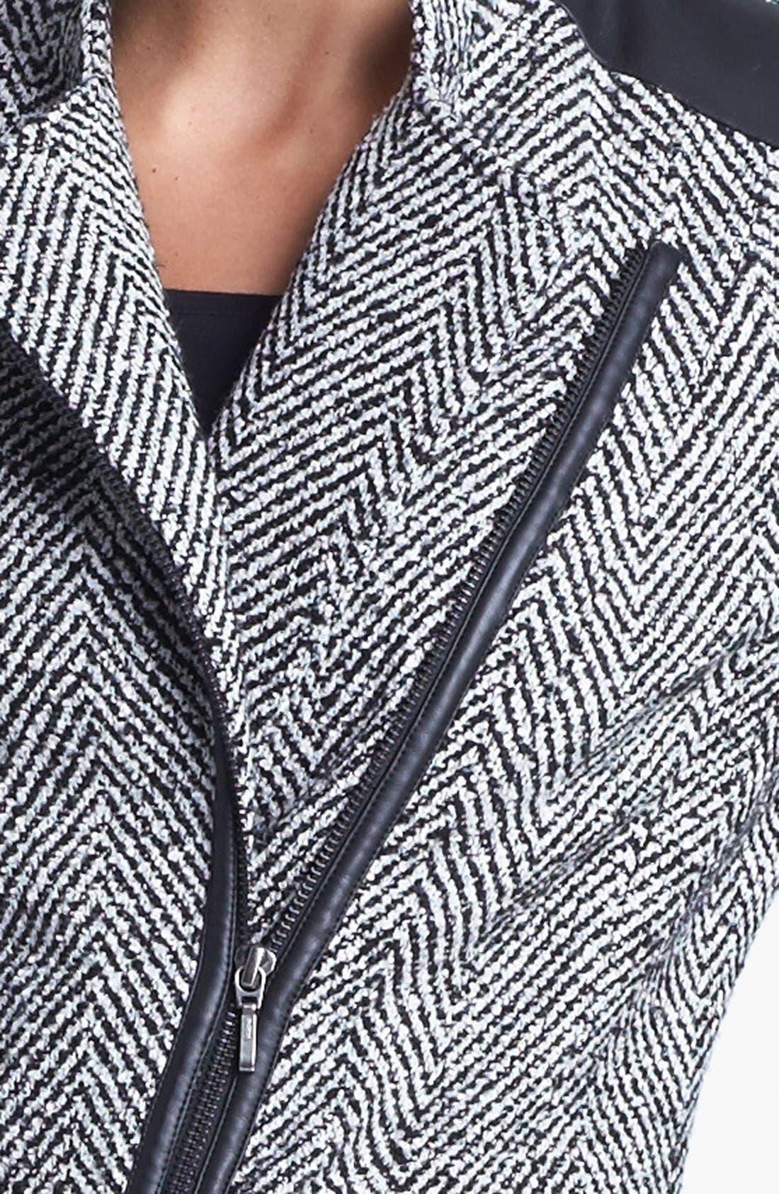 Alternate Image 5  - Amber Sun Tweed Moto Jacket
