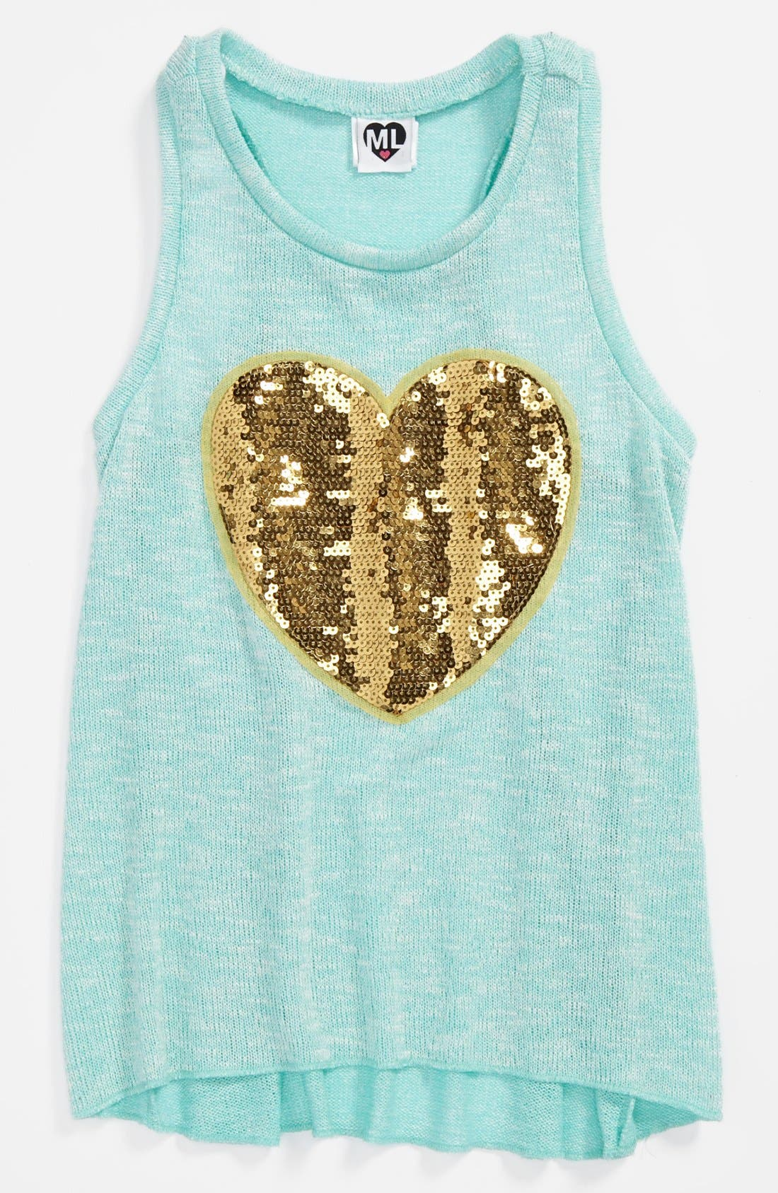 Main Image - Modern Lux Knit Tank Top (Big Girls)