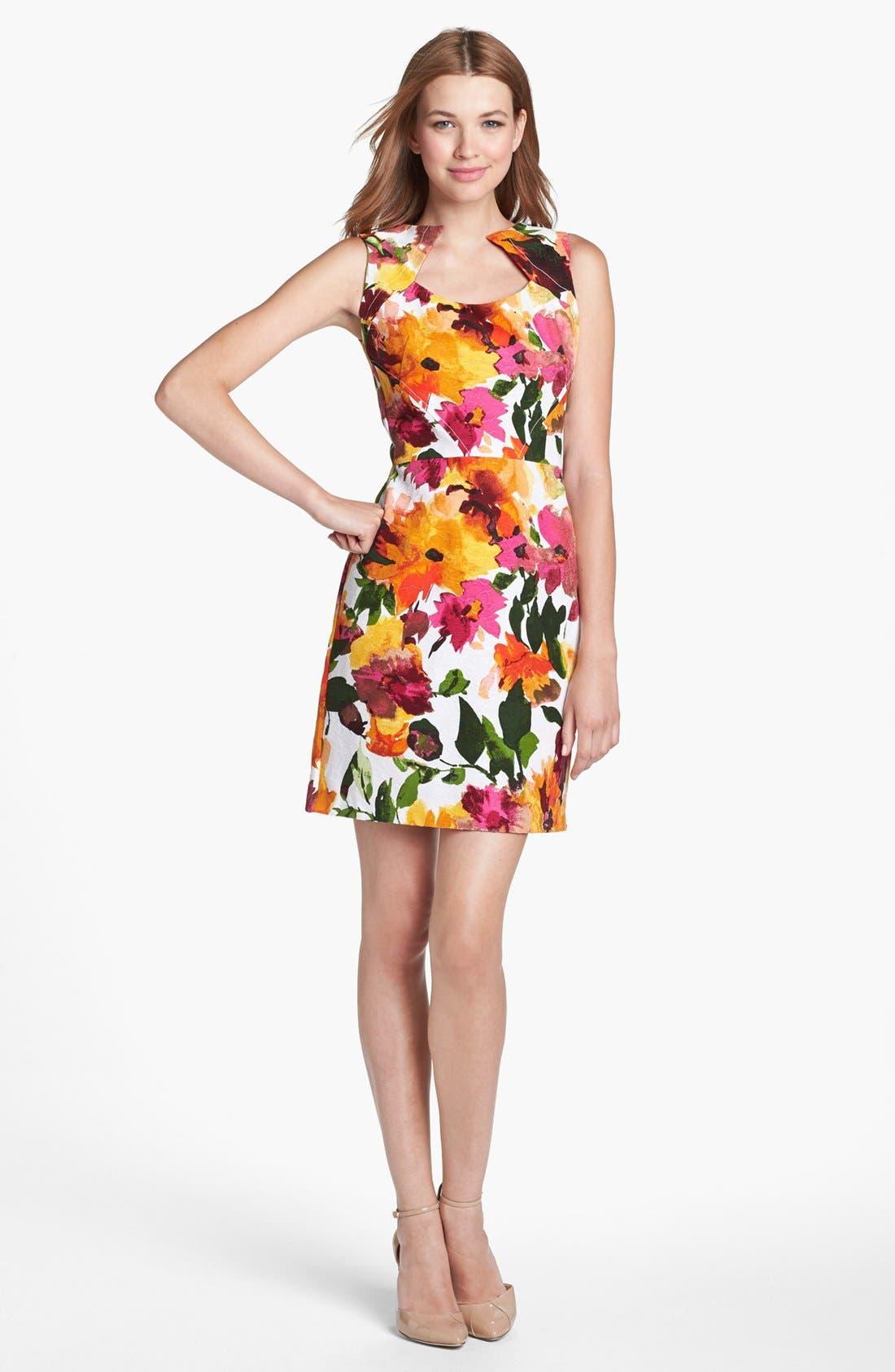 Main Image - Donna Ricco Floral Print Sheath Dress