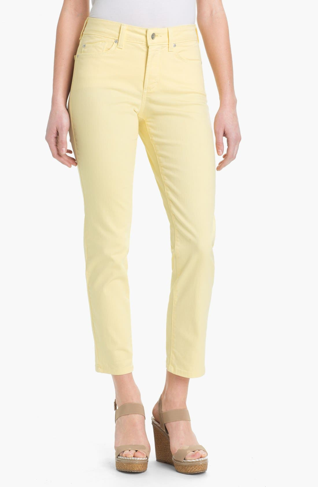 Alternate Image 1 Selected - NYDJ 'Alisha' Skinny Stretch Ankle Jeans (Petite)