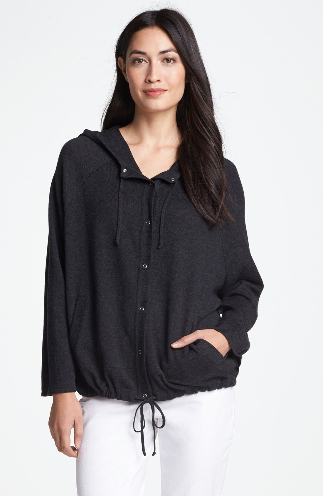 Alternate Image 1 Selected - Eileen Fisher Hooded Cardigan