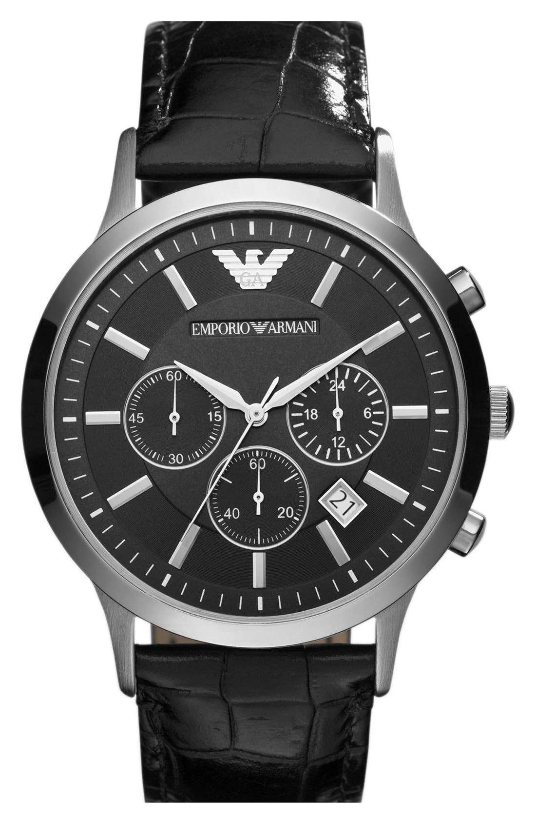 Alternate Image 1 Selected - Emporio Armani Stainless Steel Watch, 43mm