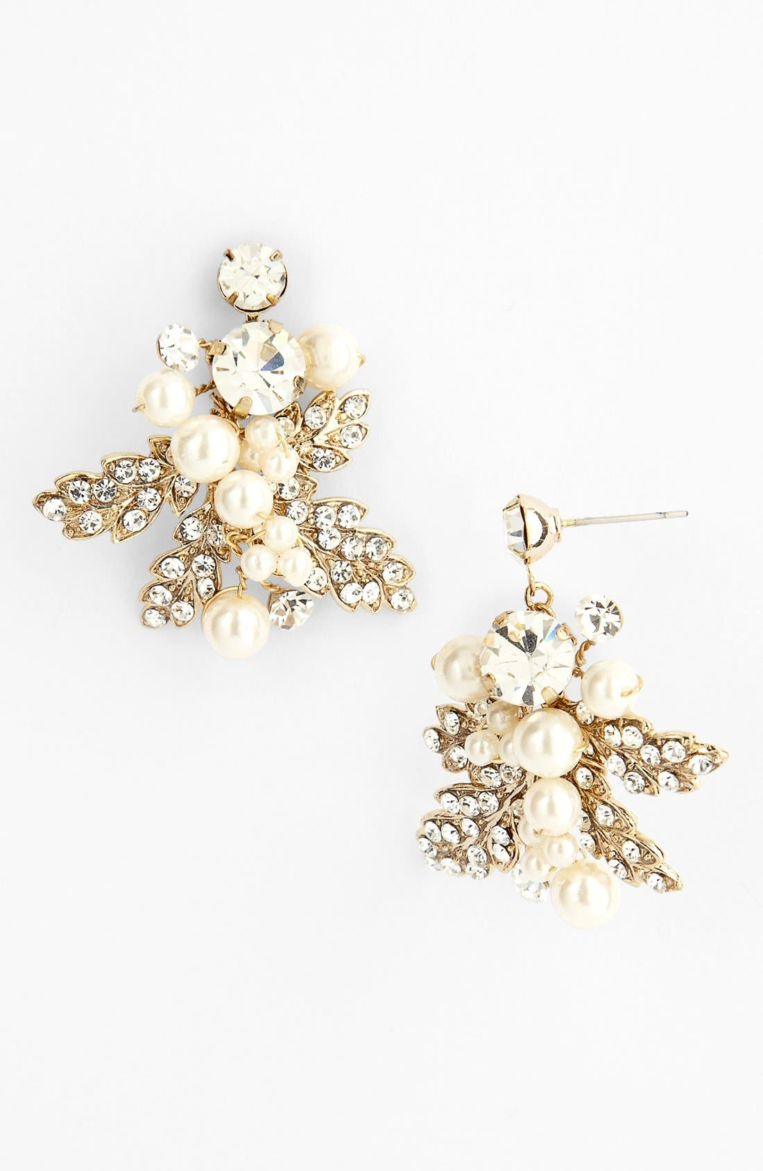 Main Image - Nina Cluster Drop Earrings