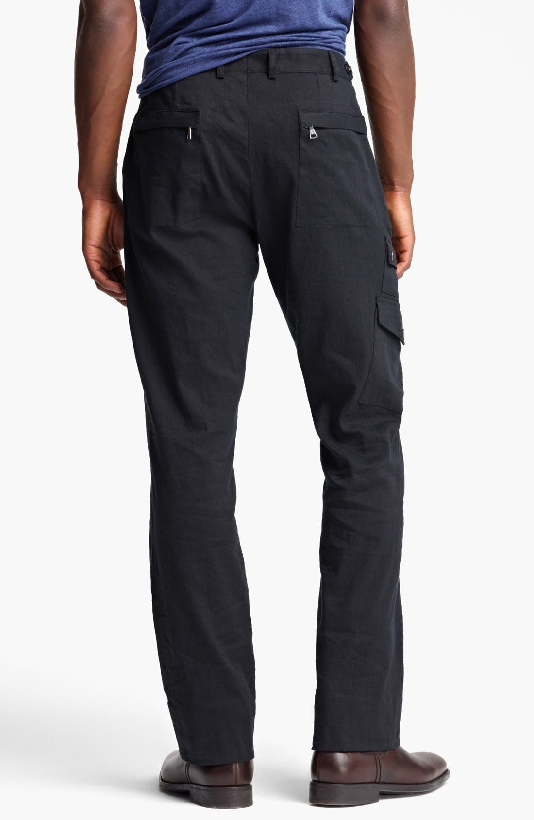 Alternate Image 2  - John Varvatos Collection Slim Fit Cargo Pants