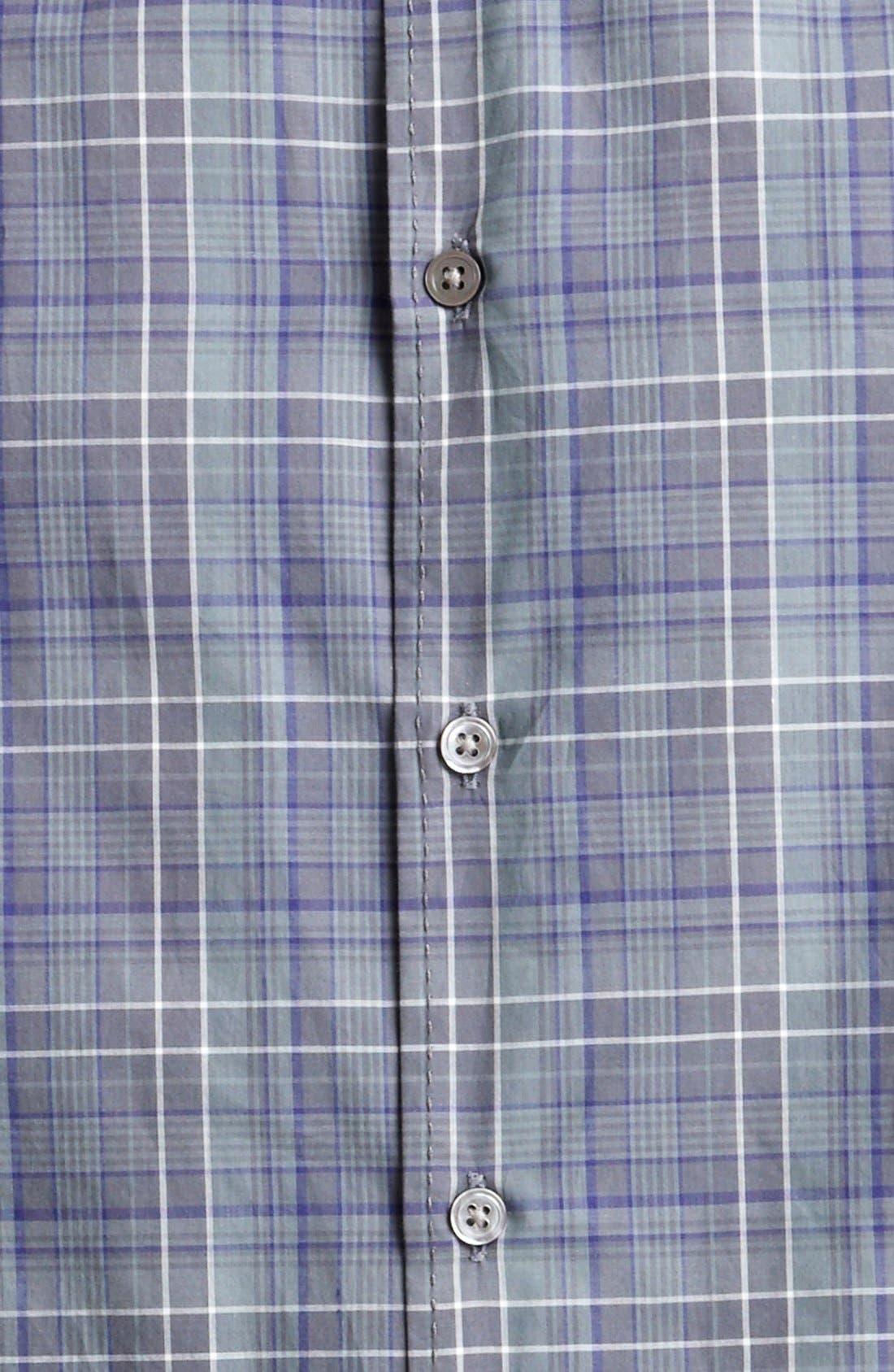 Alternate Image 3  - John Varvatos Collection Classic Fit Plaid Sport Shirt