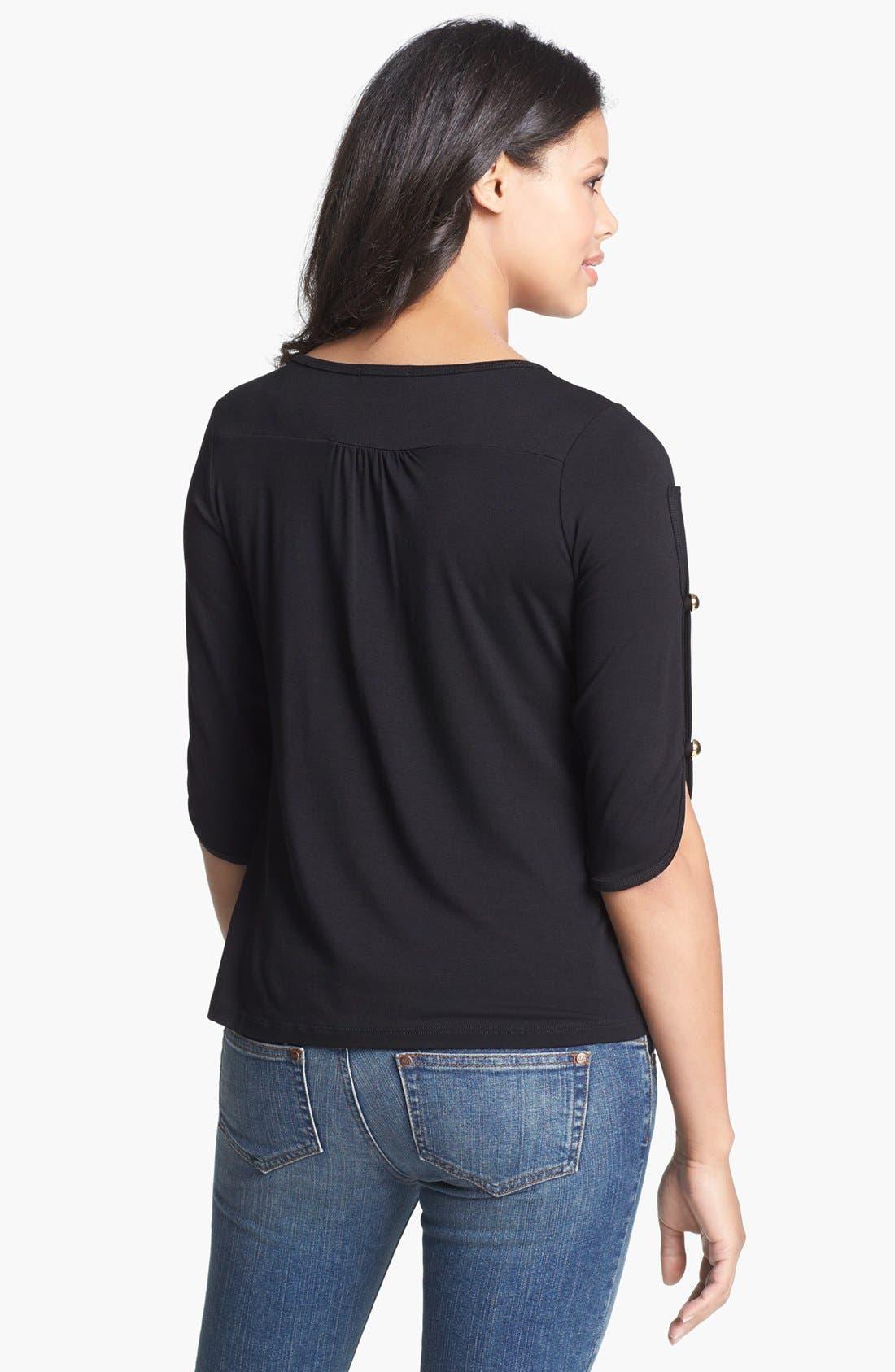 Alternate Image 2  - Maternal America Button Sleeve Maternity Top