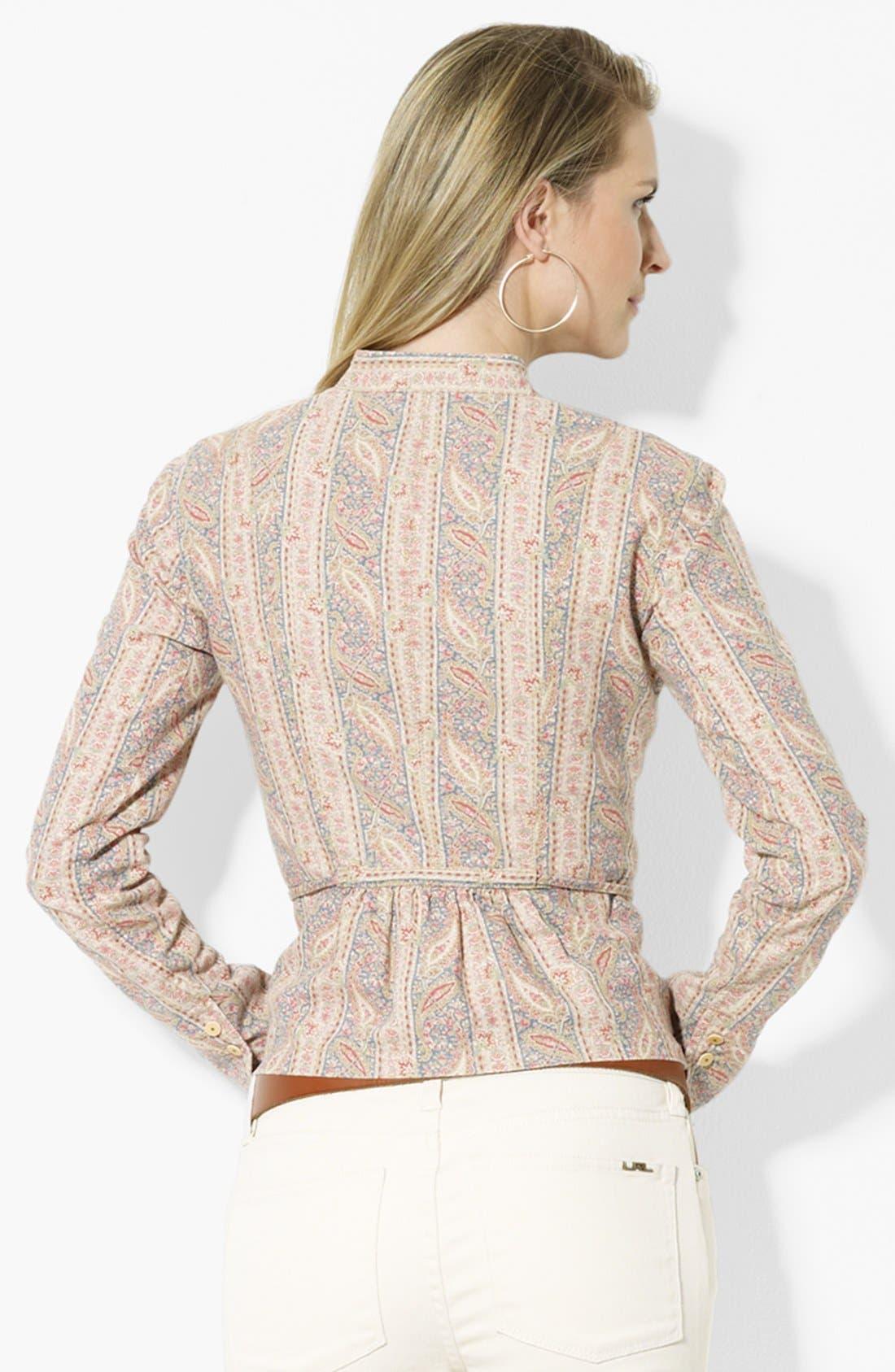 Alternate Image 2  - Lauren Ralph Lauren Belted Linen Blend Jacket