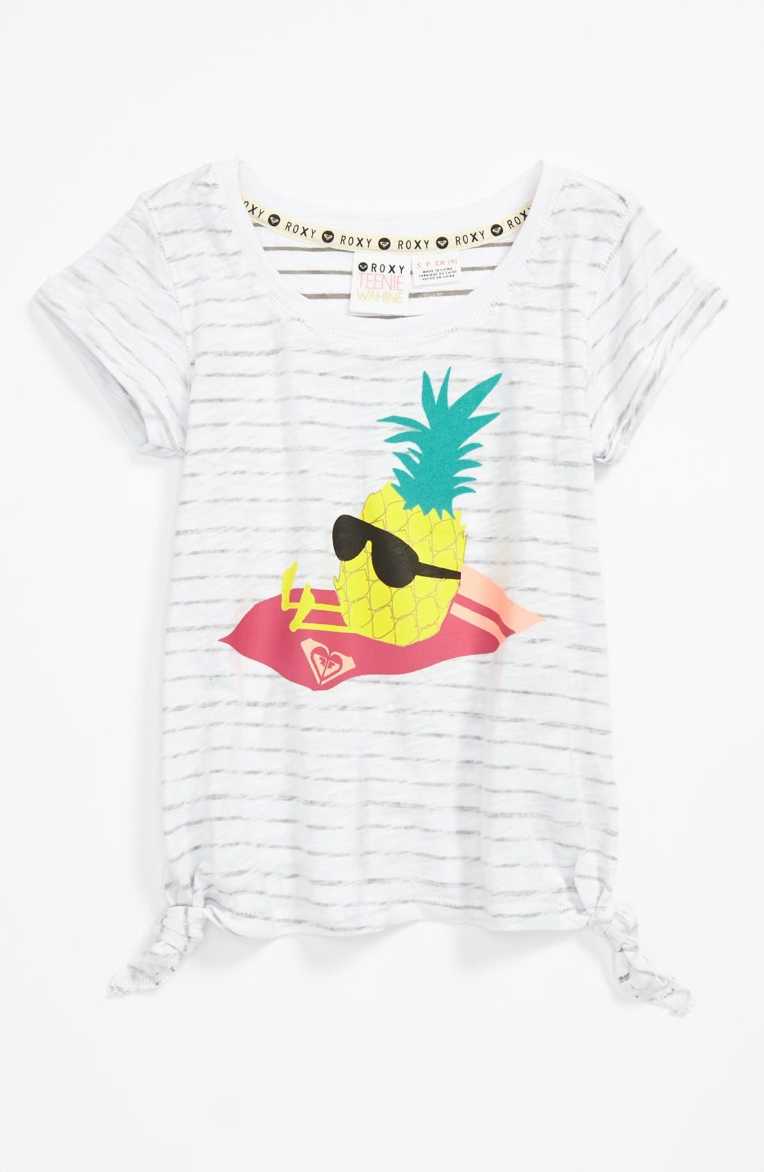 Alternate Image 1 Selected - Roxy 'Watch Out' Tee (Little Girls)