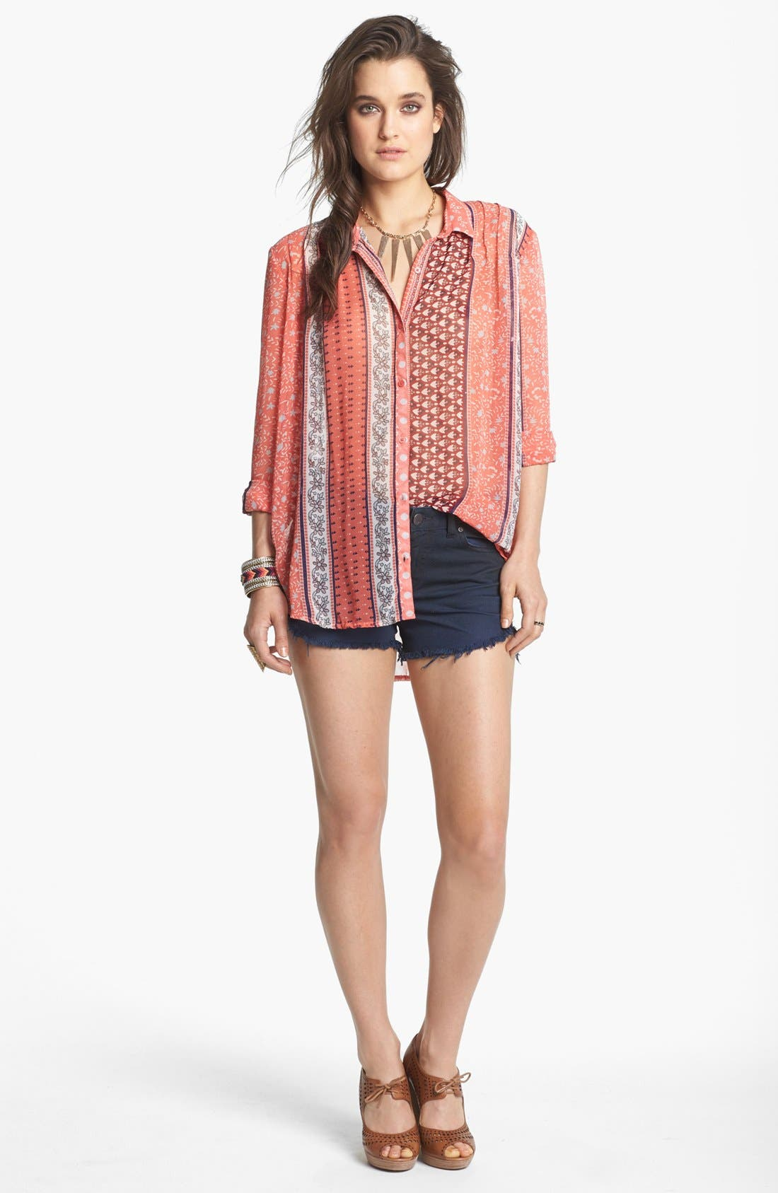 Alternate Image 1 Selected - Free People Top & Shorts