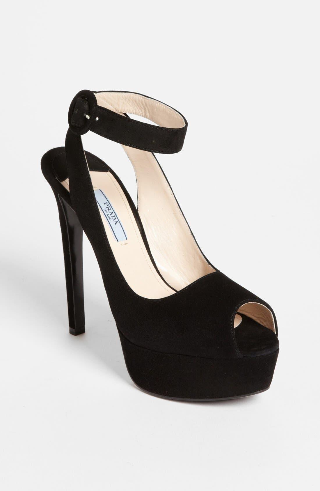 Alternate Image 1 Selected - Prada Ankle Strap Platform Sandal