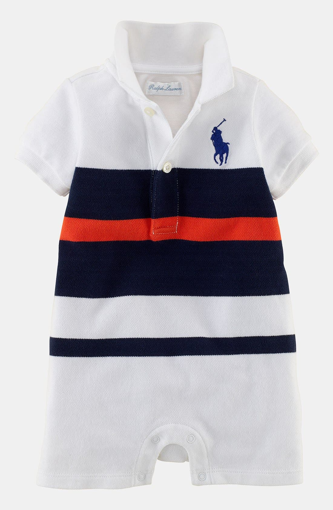 Alternate Image 1 Selected - Ralph Lauren Romper (Baby Boys)