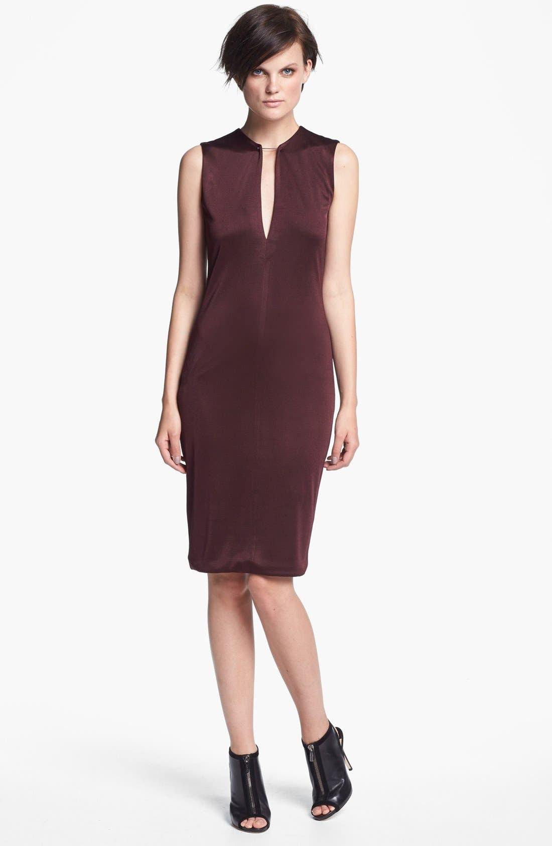 Alternate Image 1 Selected - T by Alexander Wang Sleeveless Double Piqué Knit Dress