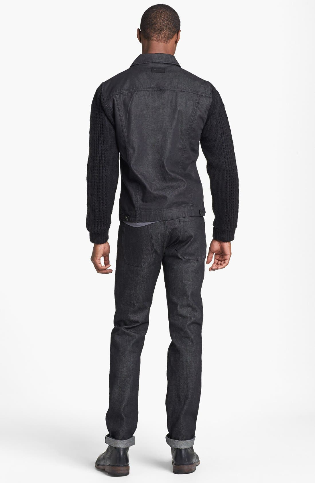 Alternate Image 5  - Insight 'Revival' Denim Jacket with Knit Sleeves