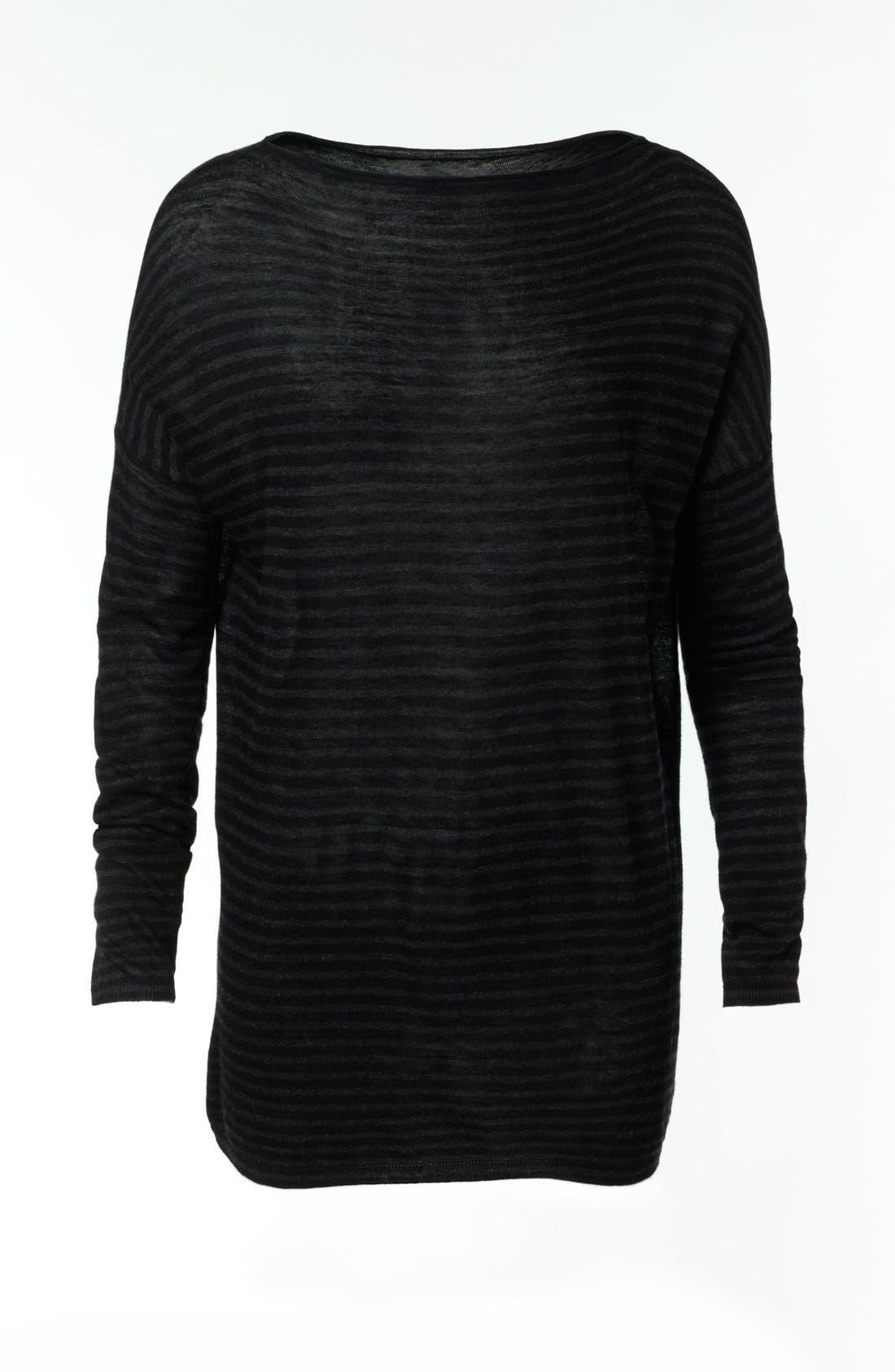 Alternate Image 4  - Vince Stripe Boatneck Sweater