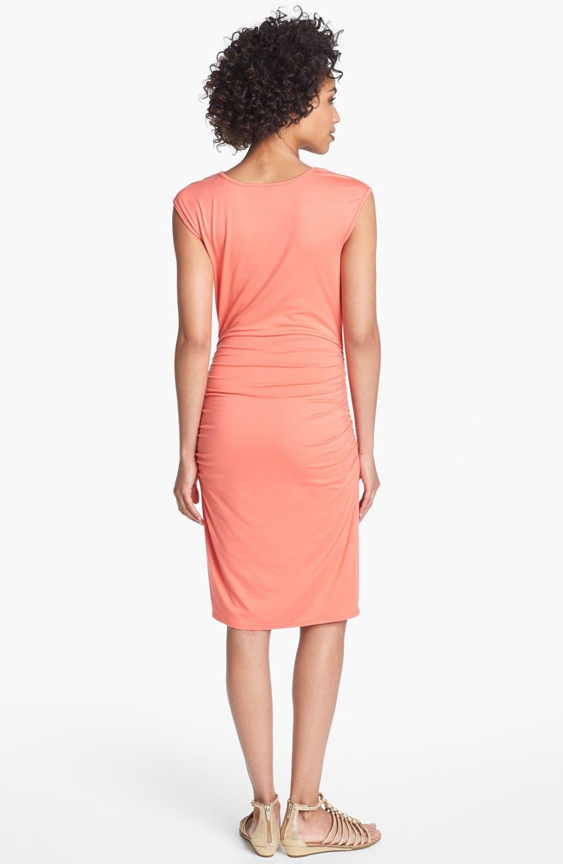 Alternate Image 2  - Three Dots Cowl Neck Jersey Sheath Dress