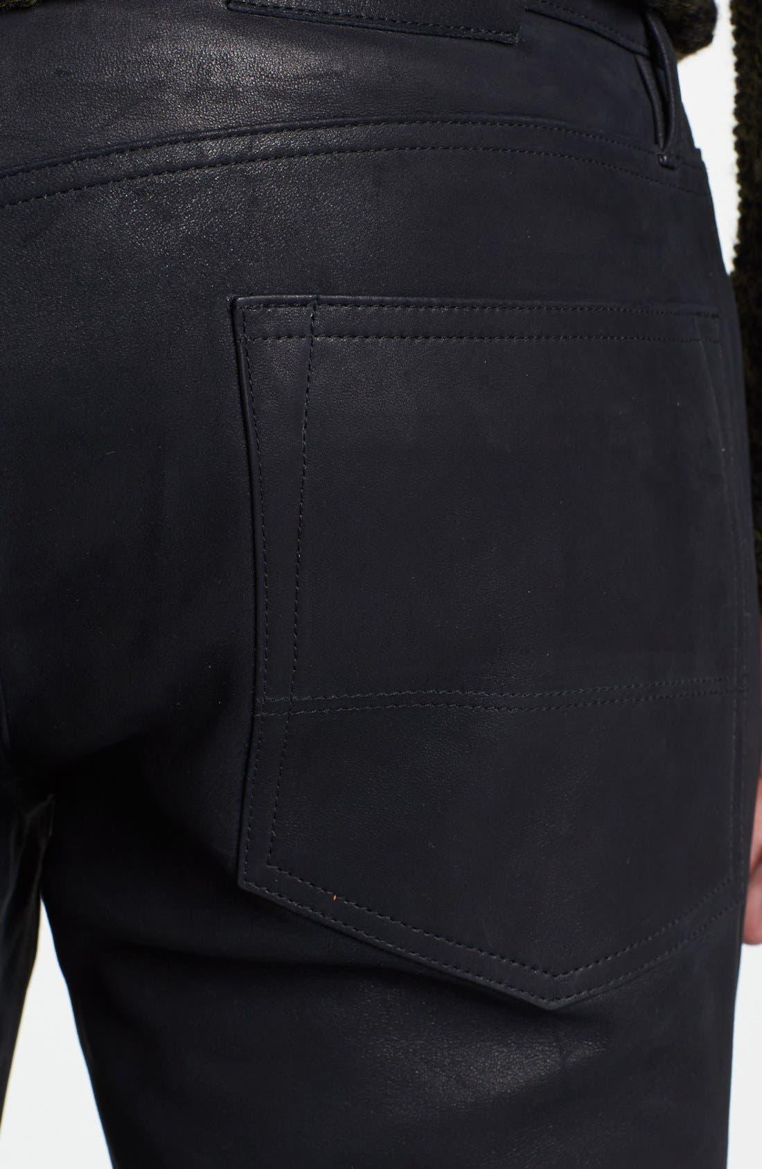 Alternate Image 4  - Vince Five Pocket Leather Pants