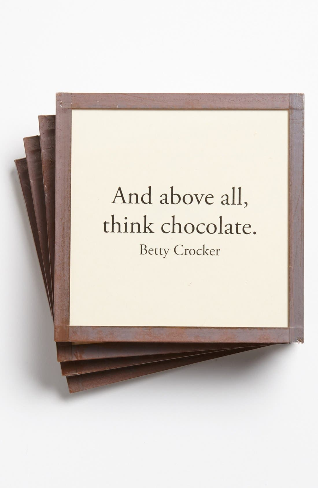 Alternate Image 1 Selected - Ben's Garden 'And Above All, Think Chocolate' Coaster Set