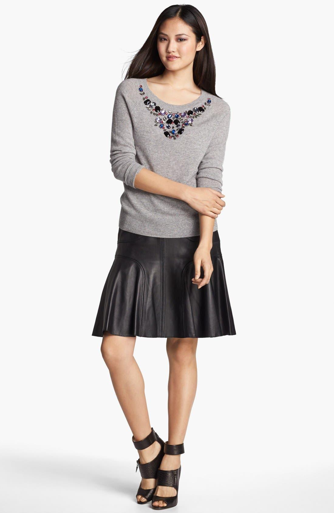 Alternate Image 1 Selected - Halogen® Jewel Neck Cashmere Sweater