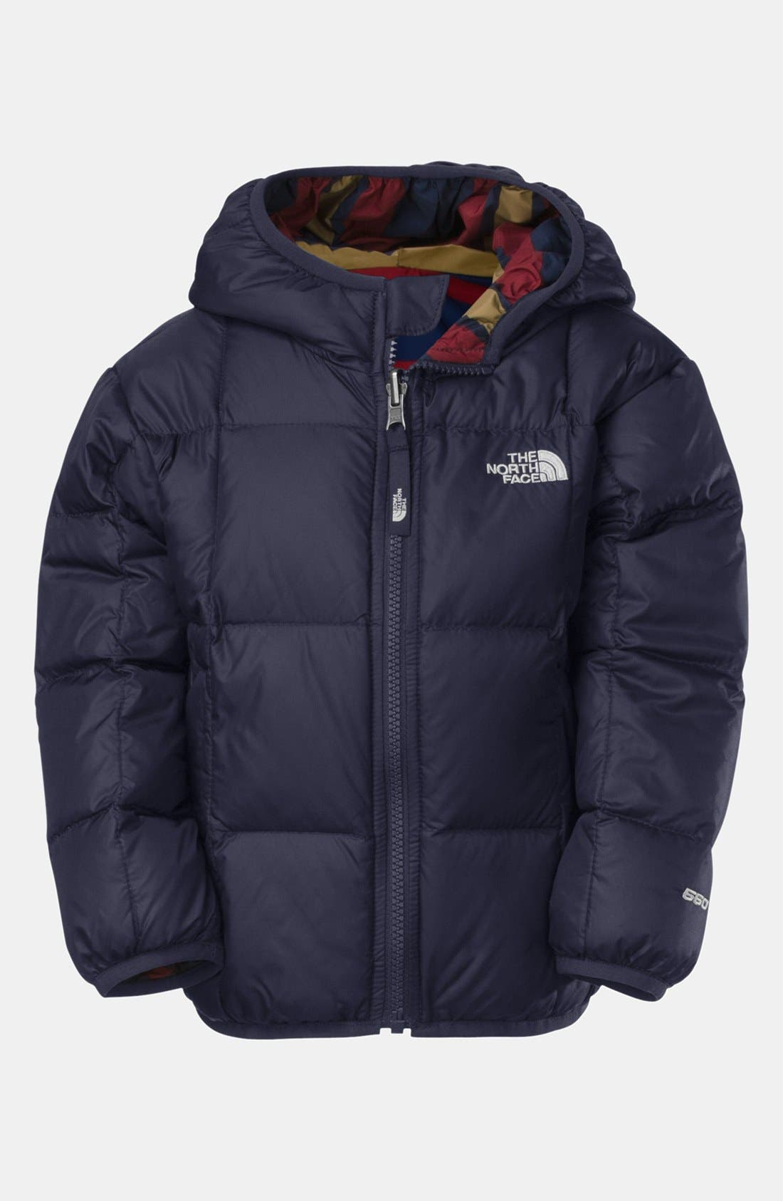 Main Image - The North Face 'Moondoggy' Reversible Quilted Down Jacket (Toddler Boys)