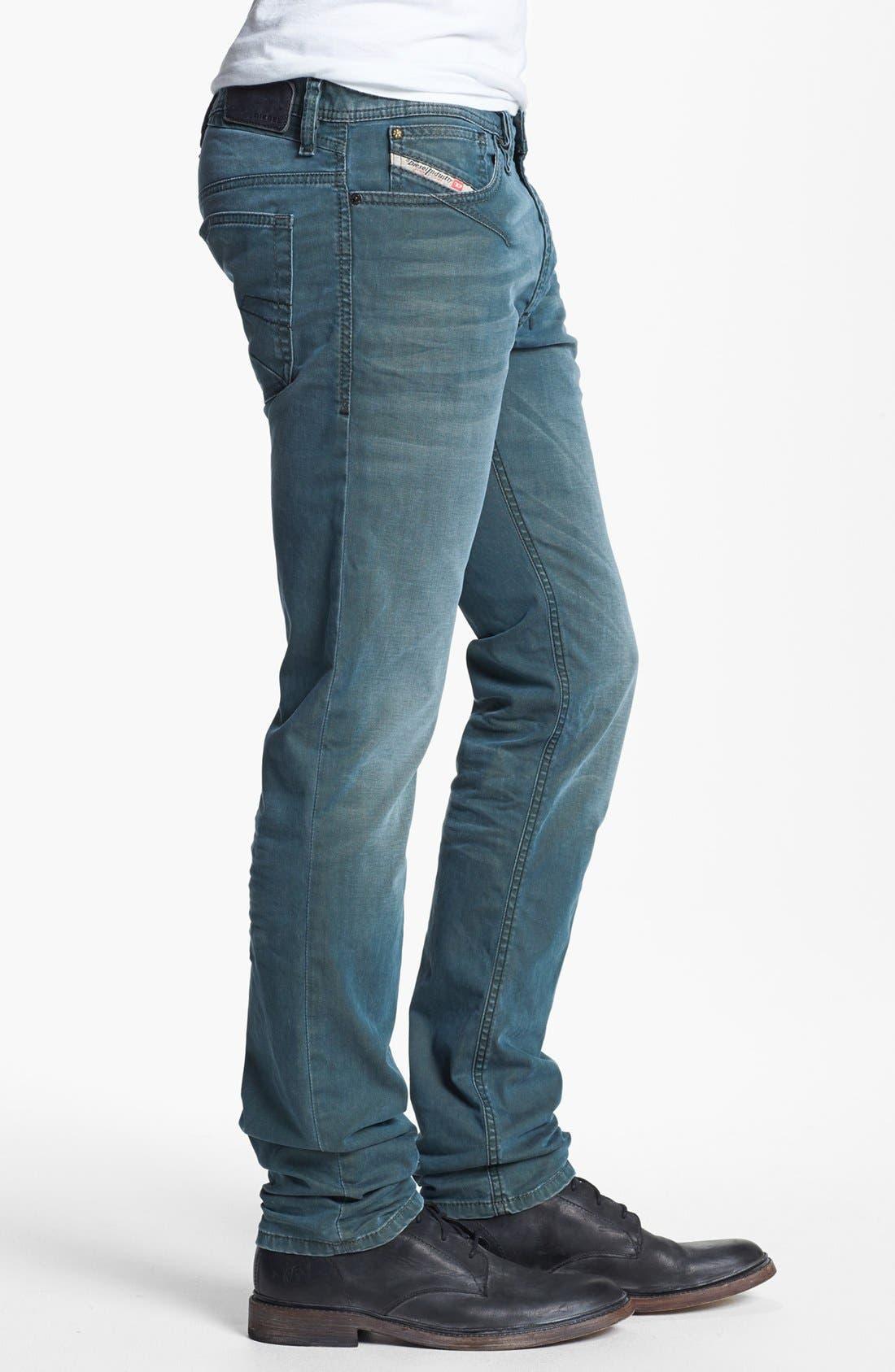 Alternate Image 3  - DIESEL® 'Shioner' Skinny Fit Jeans (0603B)
