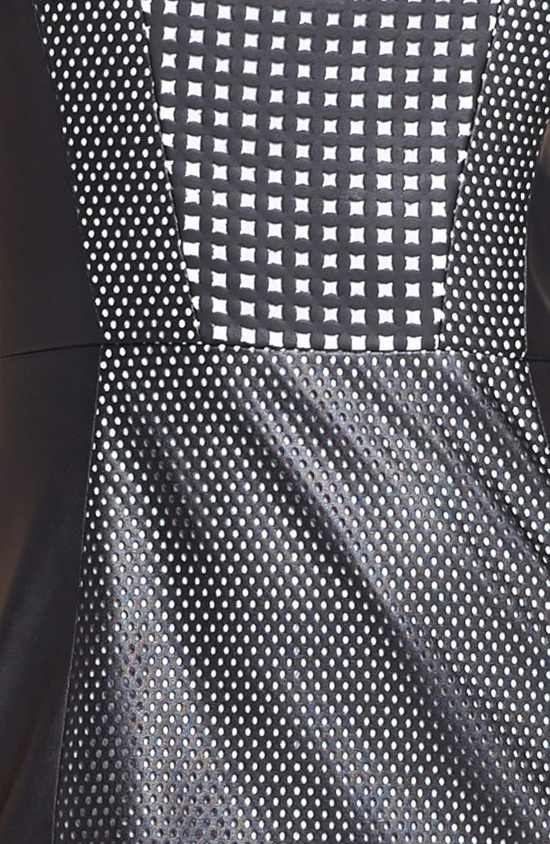 Alternate Image 3  - Vince Camuto Perforated Faux Leather Sheath Dress