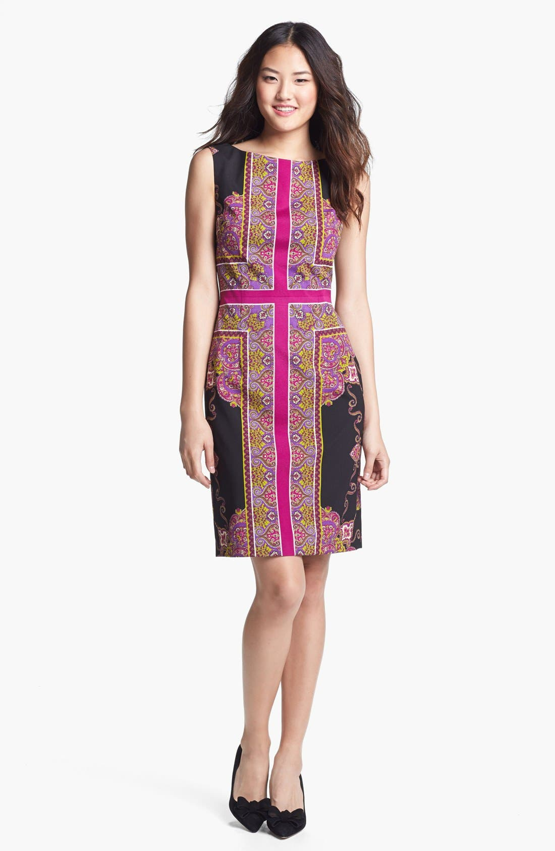 Main Image - Adrianna Papell Scarf Print Sheath Dress