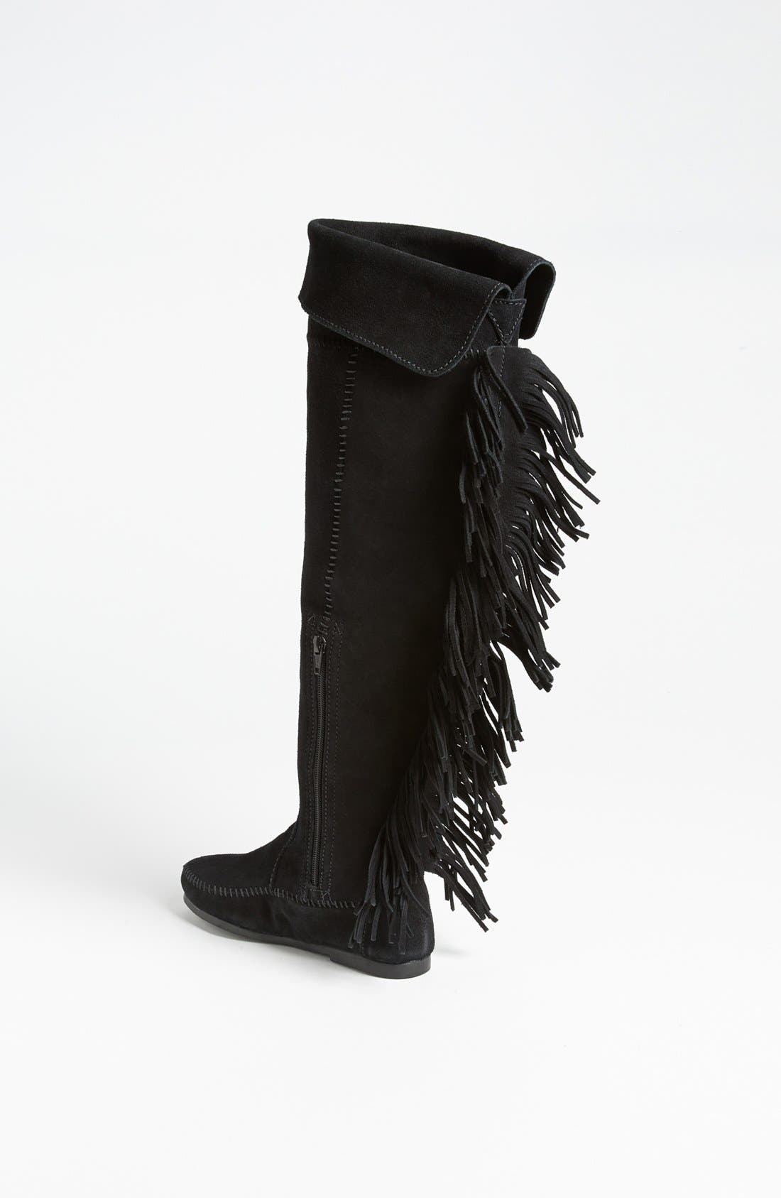 Alternate Image 2  - Minnetonka Over the Knee Fringe Boot