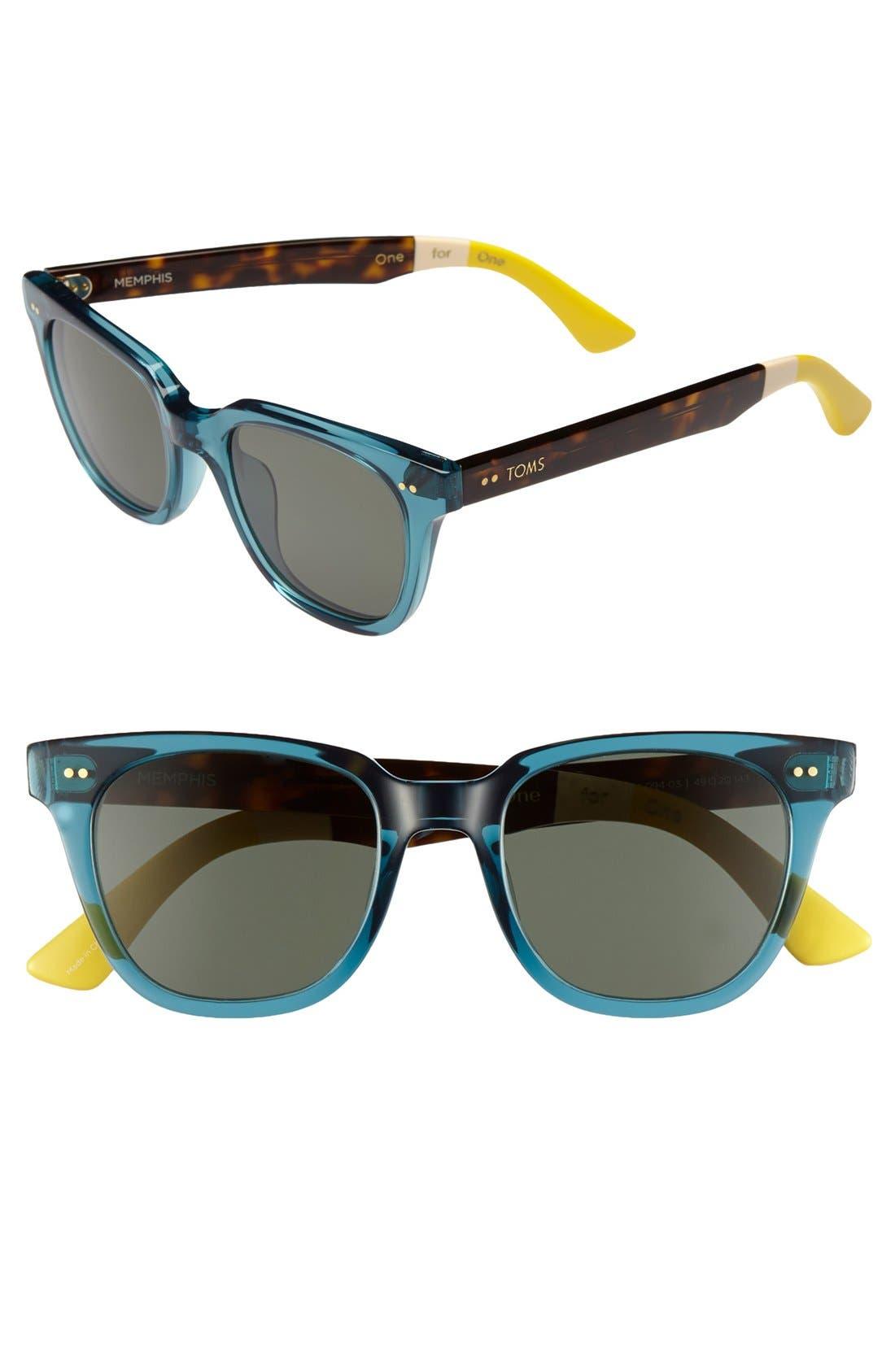Alternate Image 1 Selected - TOMS 'Memphis' 49mm Sunglasses