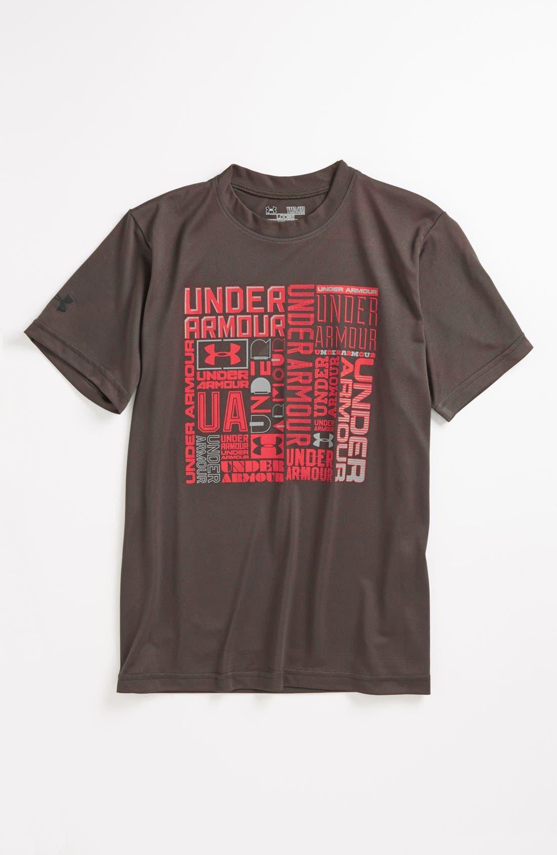 Alternate Image 1 Selected - Under Armour HeatGear® T-Shirt (Big Boys)
