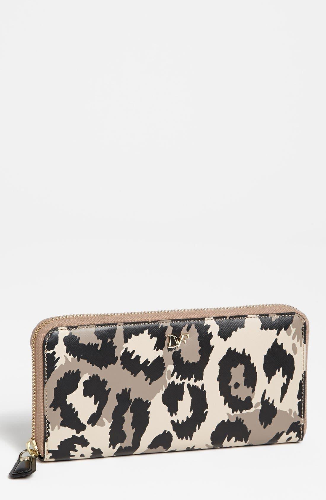 Alternate Image 1 Selected - Diane von Furstenberg Leopard Print Wallet