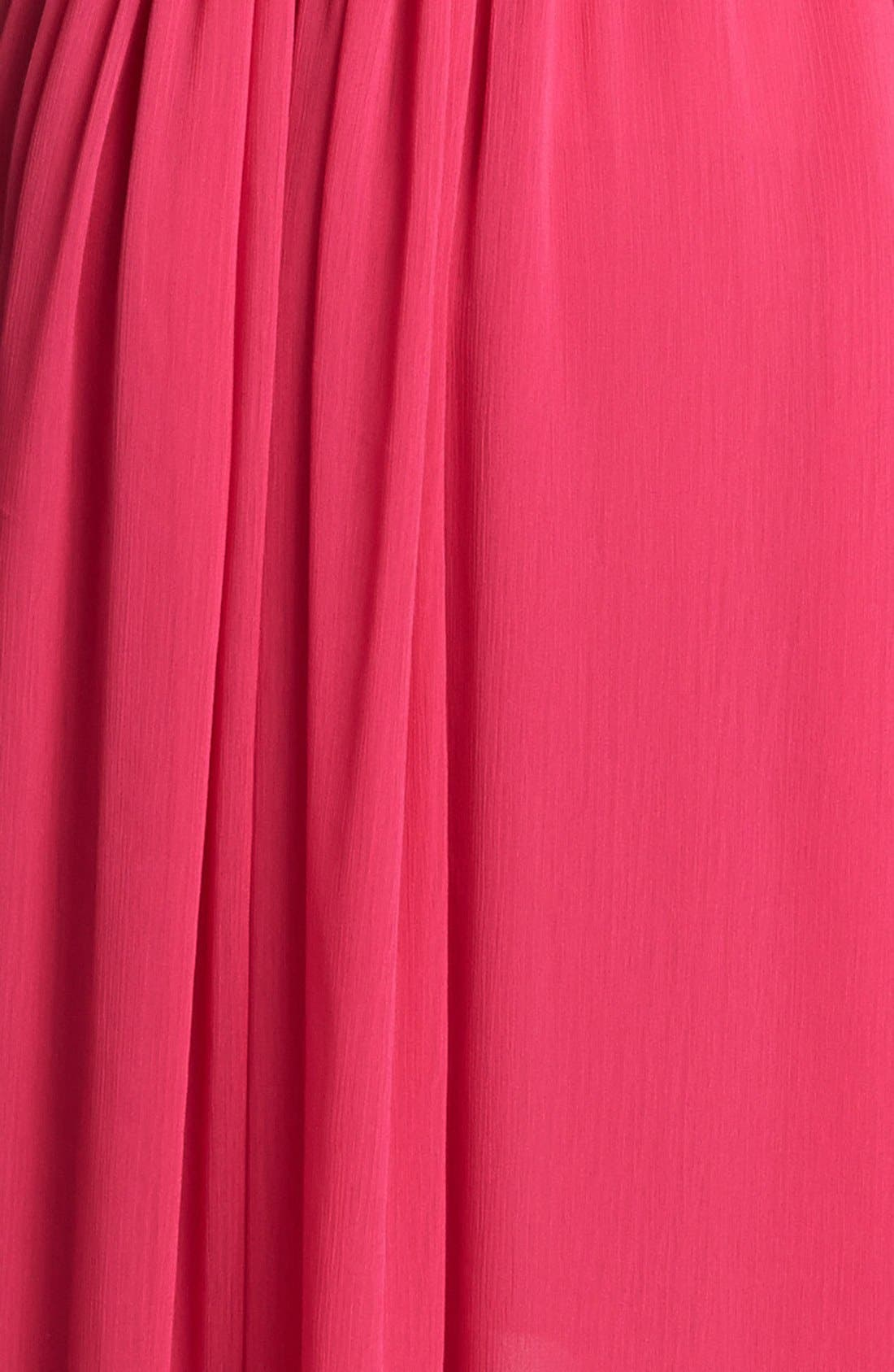 Alternate Image 3  - Adrianna Papell High/Low Crinkled Chiffon Dress