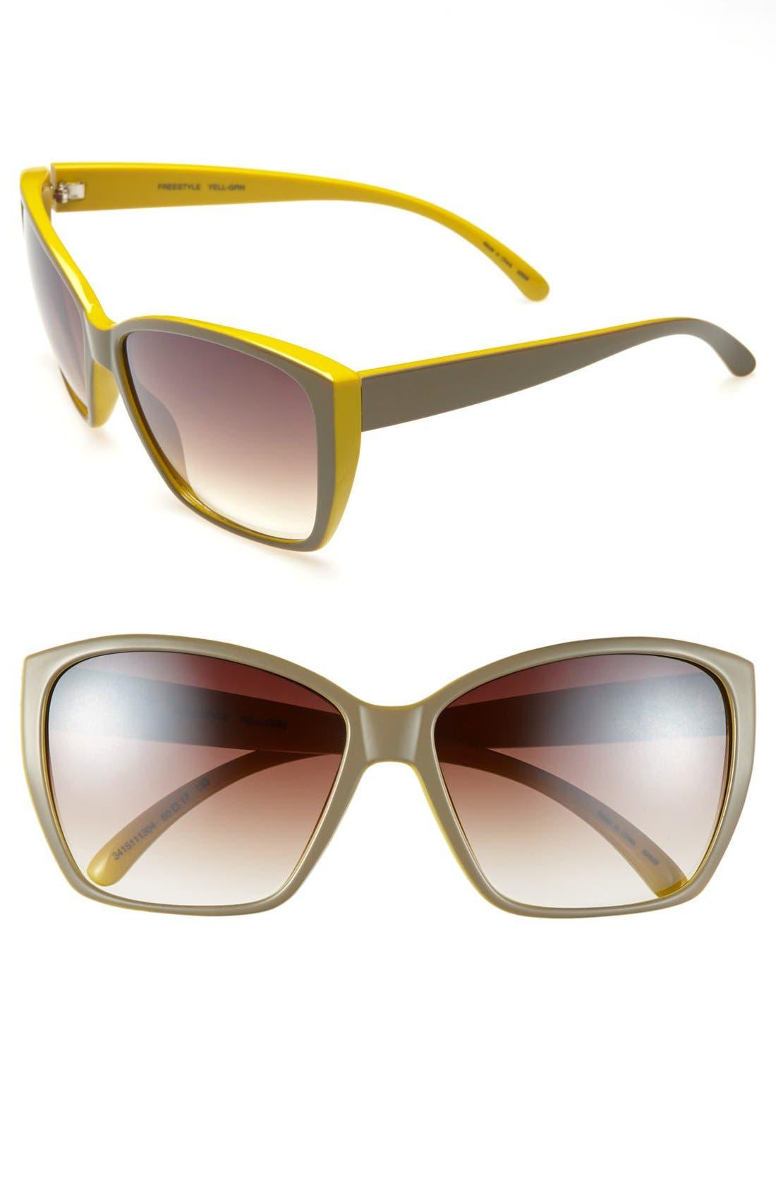 Alternate Image 1 Selected - Outlook Eyewear 'Freestyle' 60mm Sunglasses