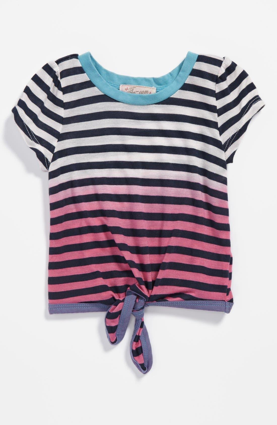 Main Image - TA-EAM Tie Front Tee (Toddler Girls)