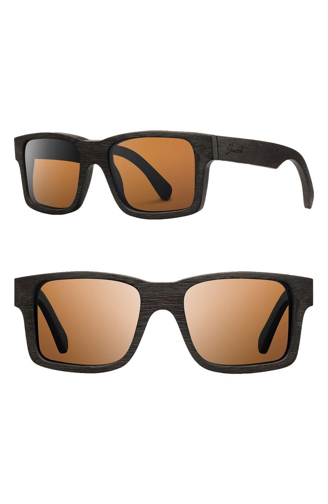Alternate Image 1 Selected - Shwood 'Haystack' 53mm Polarized Wood Sunglasses