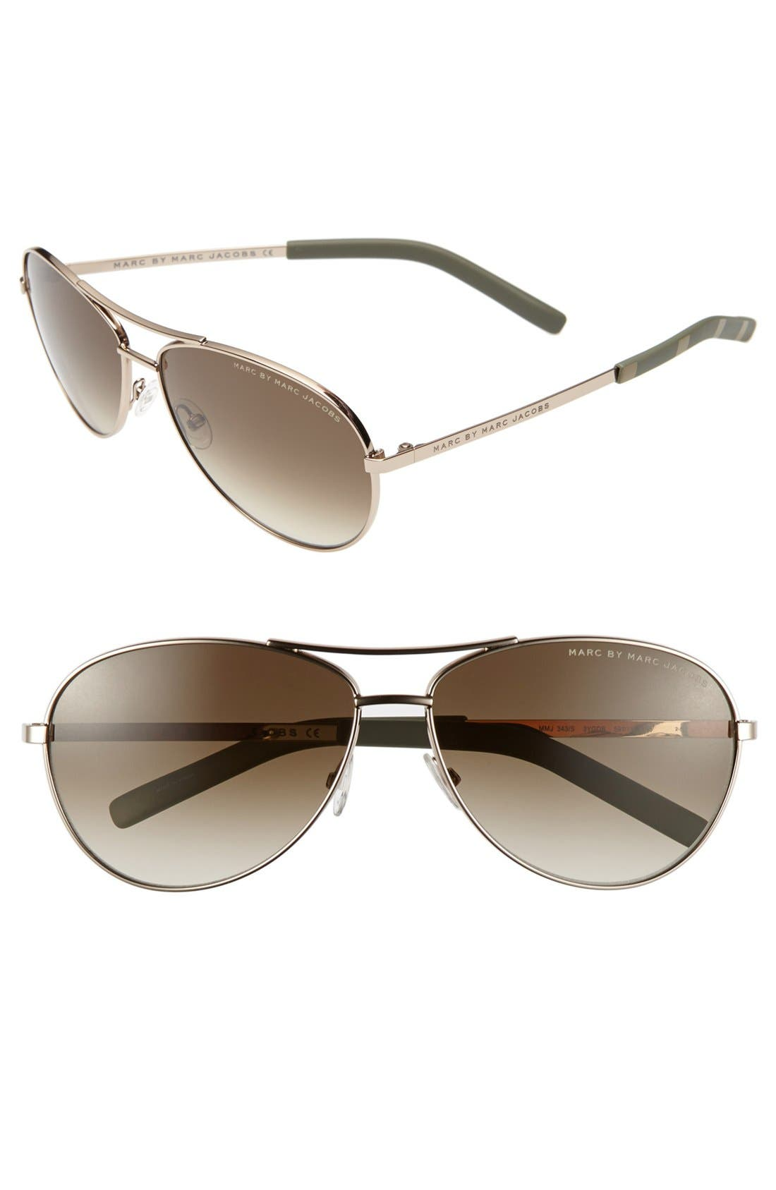 Main Image - MARC BY MARC JACOBS 'Angelina' 61mm Sunglasses