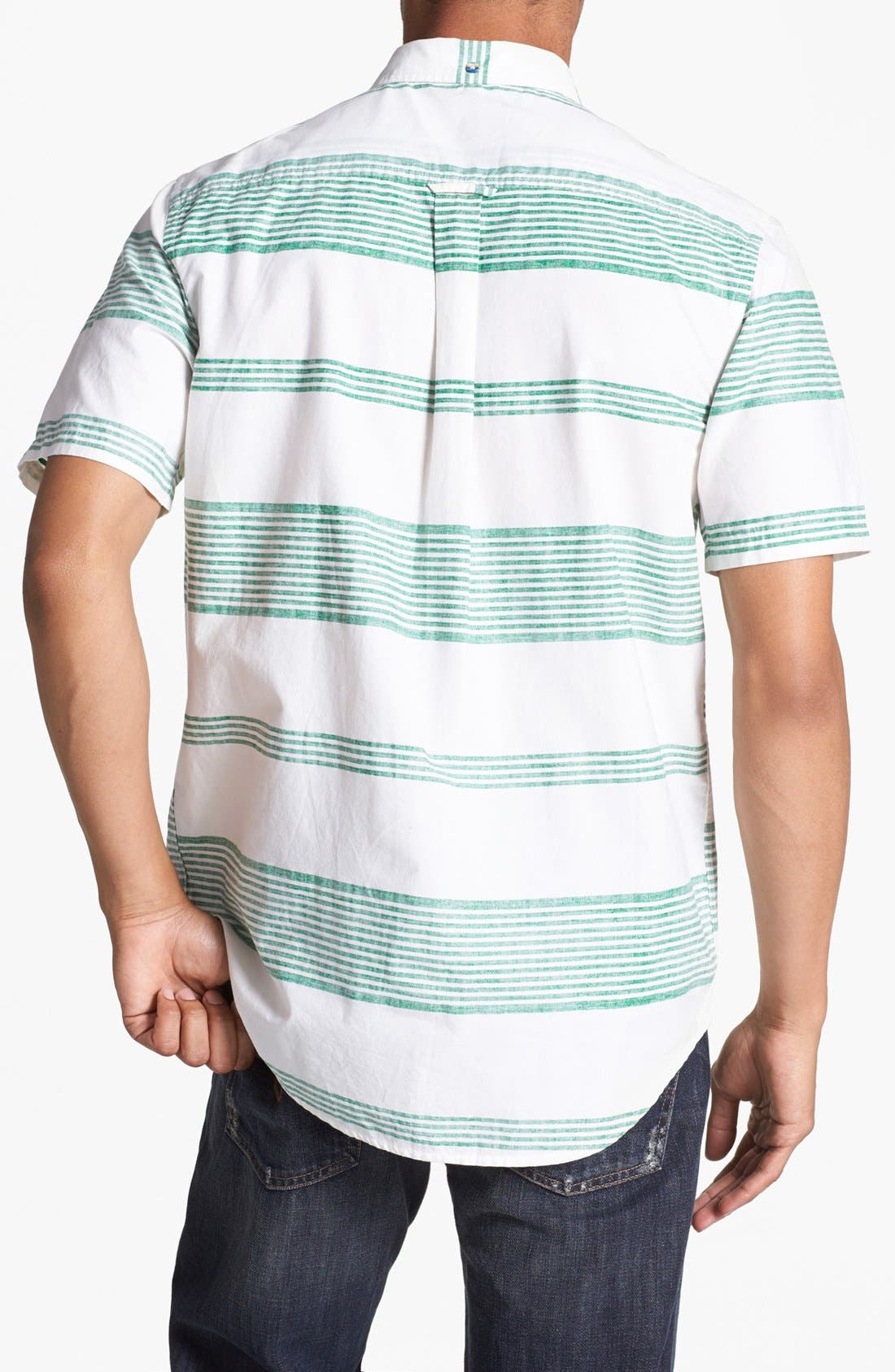Alternate Image 2  - Hurley 'Casey' Stripe Print Woven Shirt