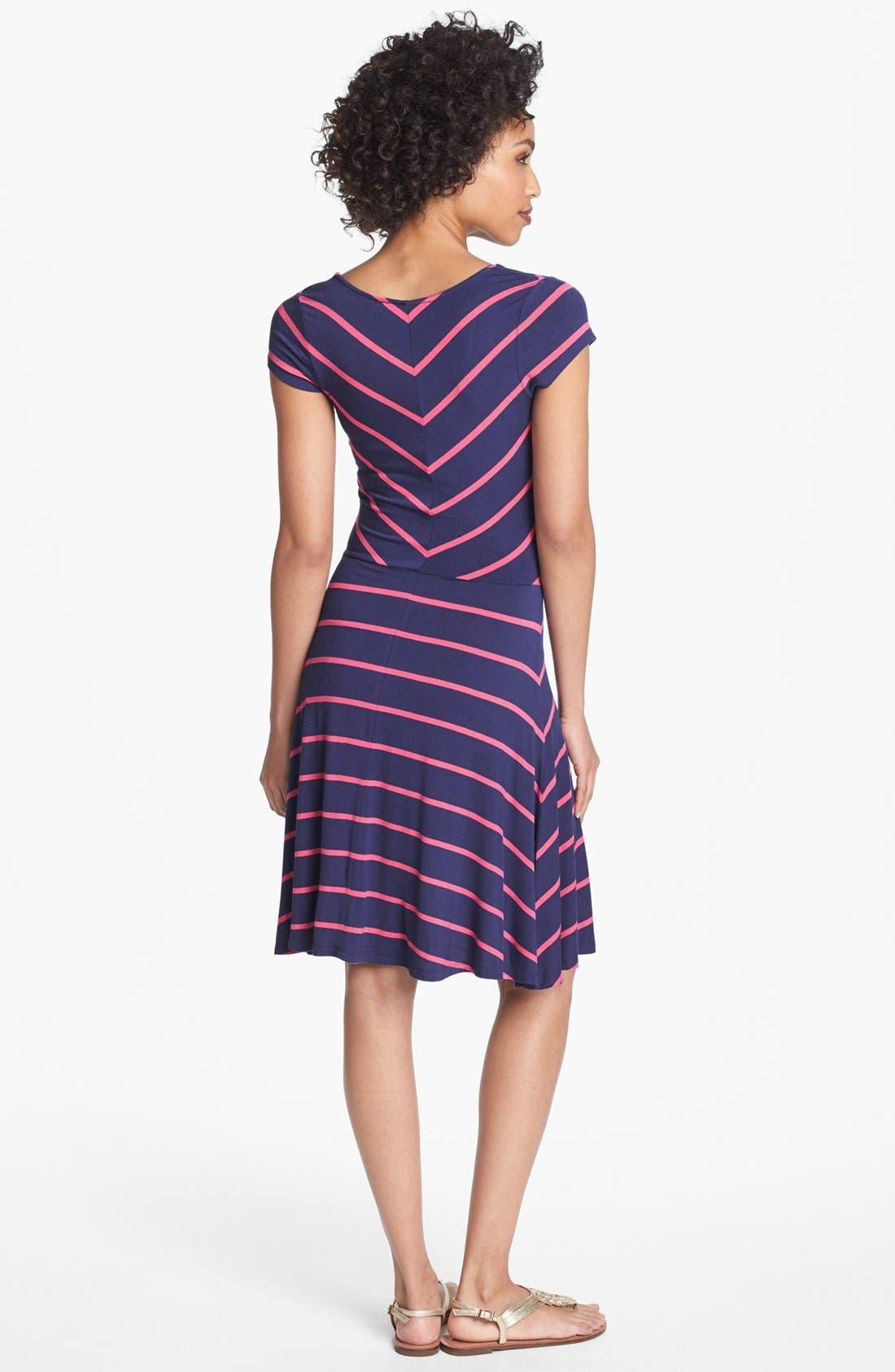 Alternate Image 2  - Felicity & Coco Stripe Jersey Dress (Regular & Petite) (Nordstrom Exclusive)
