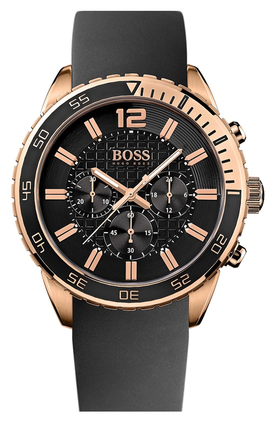 Alternate Image 1 Selected - BOSS HUGO BOSS 'Deep Blue SX' Chronograph Watch, 46mm