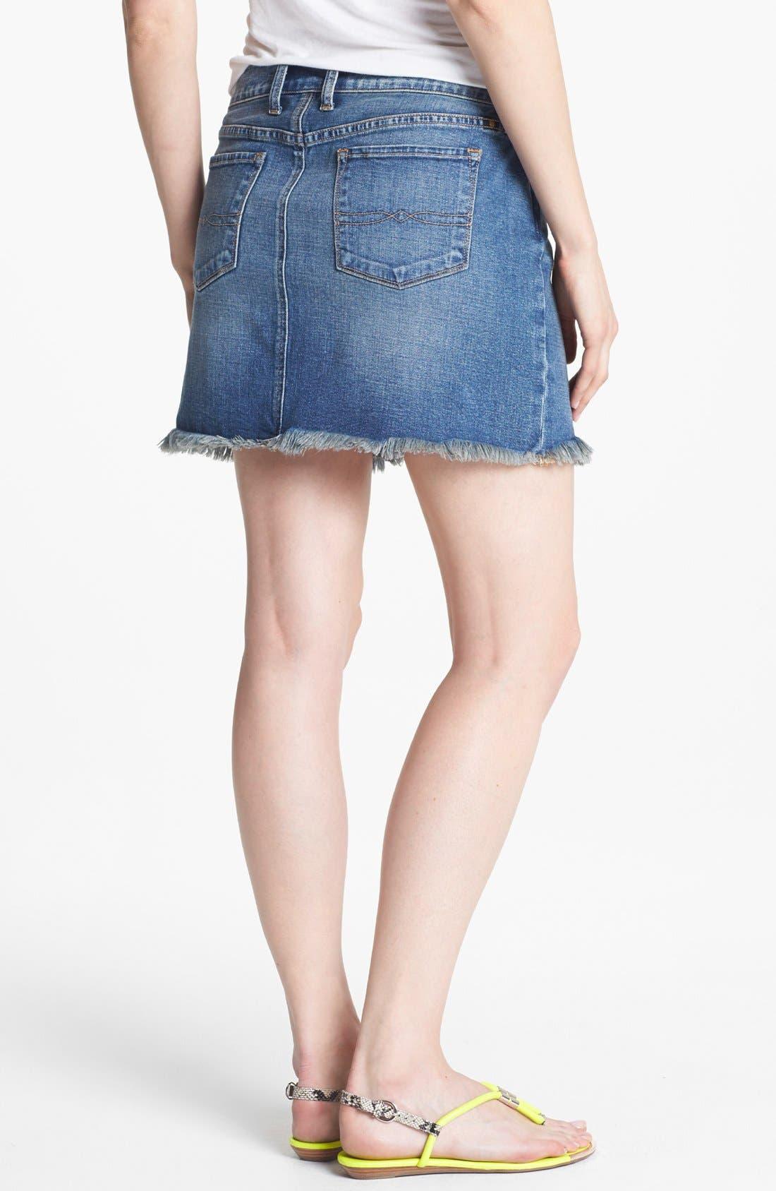 Alternate Image 2  - Lucky Brand 'Blossom' Denim Cutoff Skirt (Online Only)