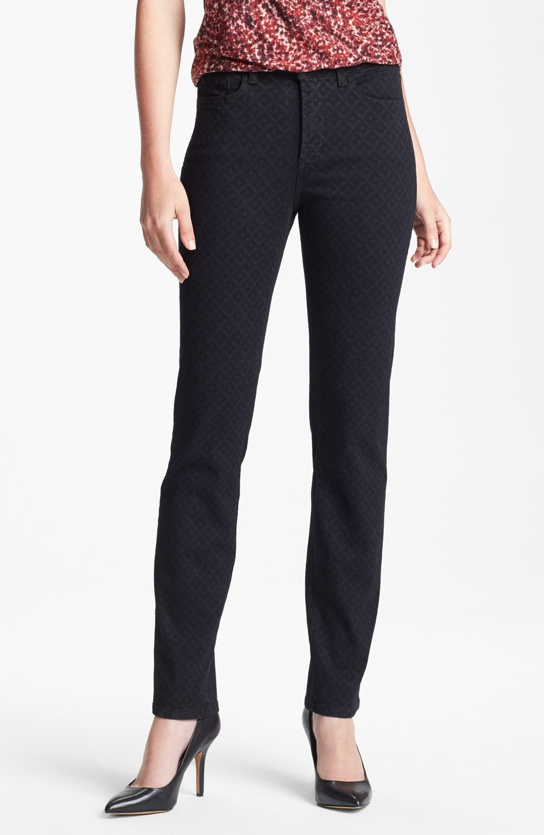 Alternate Image 1 Selected - NYDJ 'Sheri' Print Stretch Skinny Jeans (Regular & Petite)