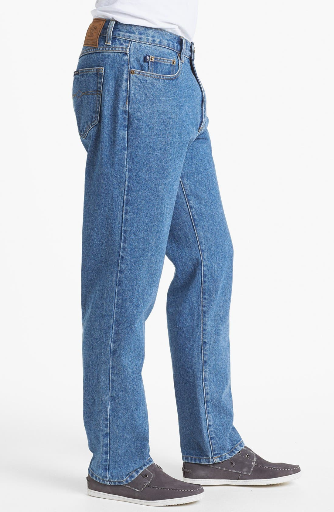 Alternate Image 3  - Cutter & Buck Classic Five Pocket Straight Leg Jeans (Denim Wash)