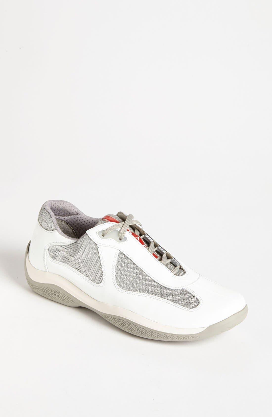 Main Image - Prada Patent Leather & Mesh Sneaker