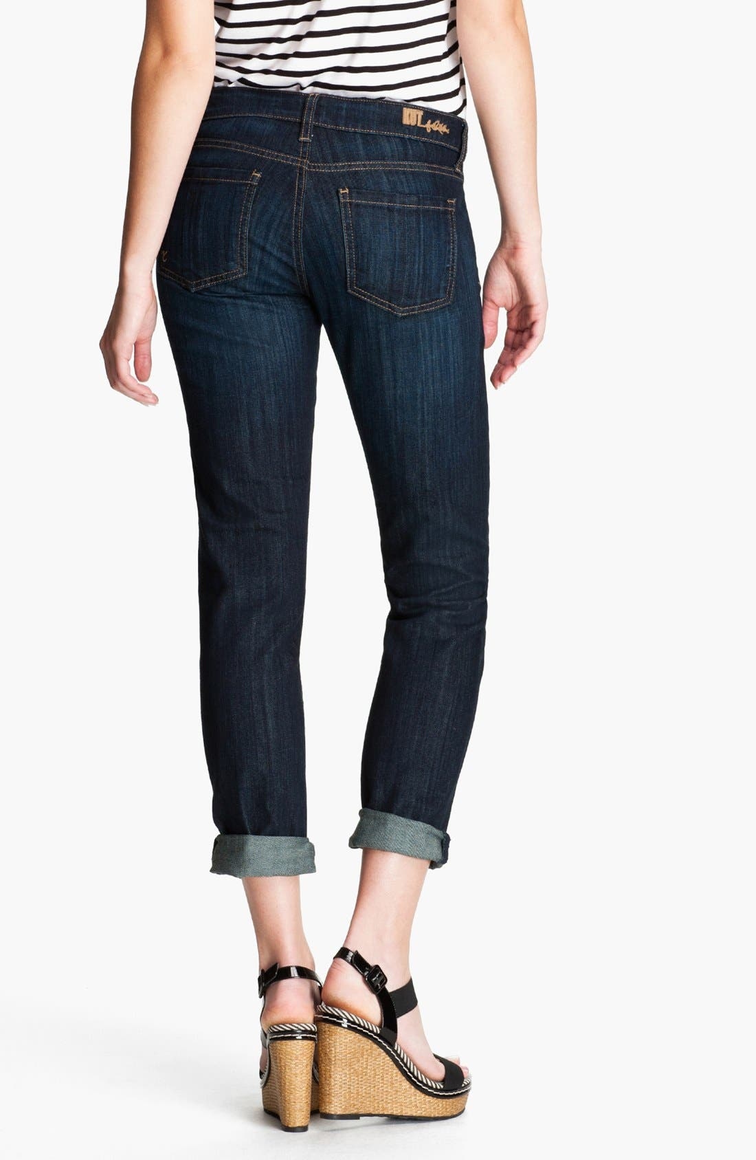 Alternate Image 2  - KUT from the Kloth 'Catherine' Slim Boyfriend Jeans (Royal) (Regular & Petite)