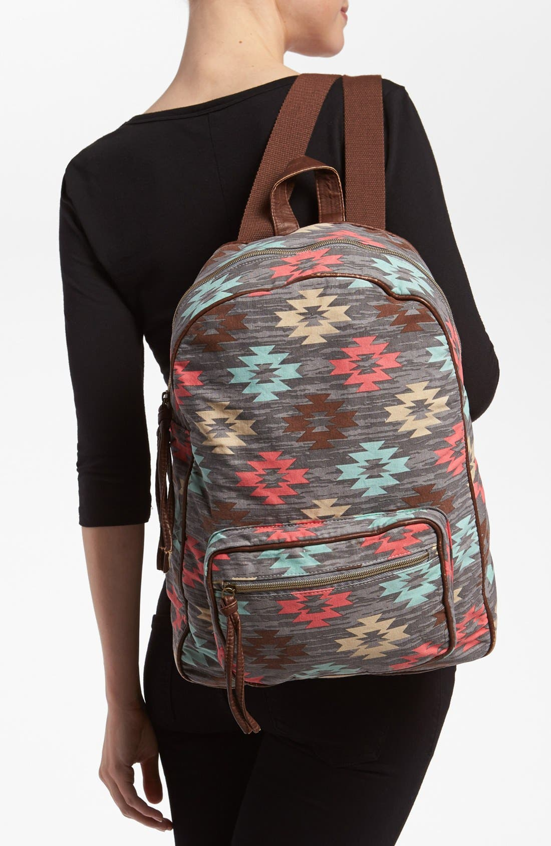 Alternate Image 2  - Lulu Print Canvas Backpack
