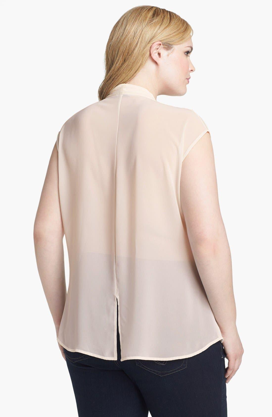Alternate Image 2  - Halogen® Slit Back Top (Plus Size)