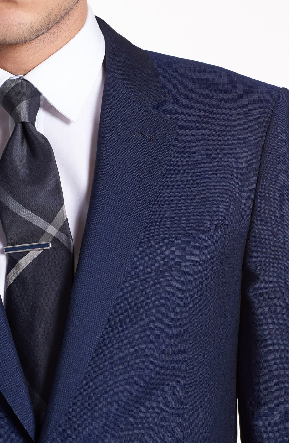 Alternate Image 2  - Burberry London Navy Wool & Mohair Suit