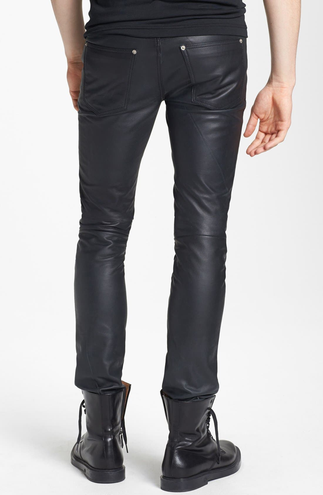 Alternate Image 2  - BLK DNM 'Rock N Roll' Skinny Fit Leather Pants