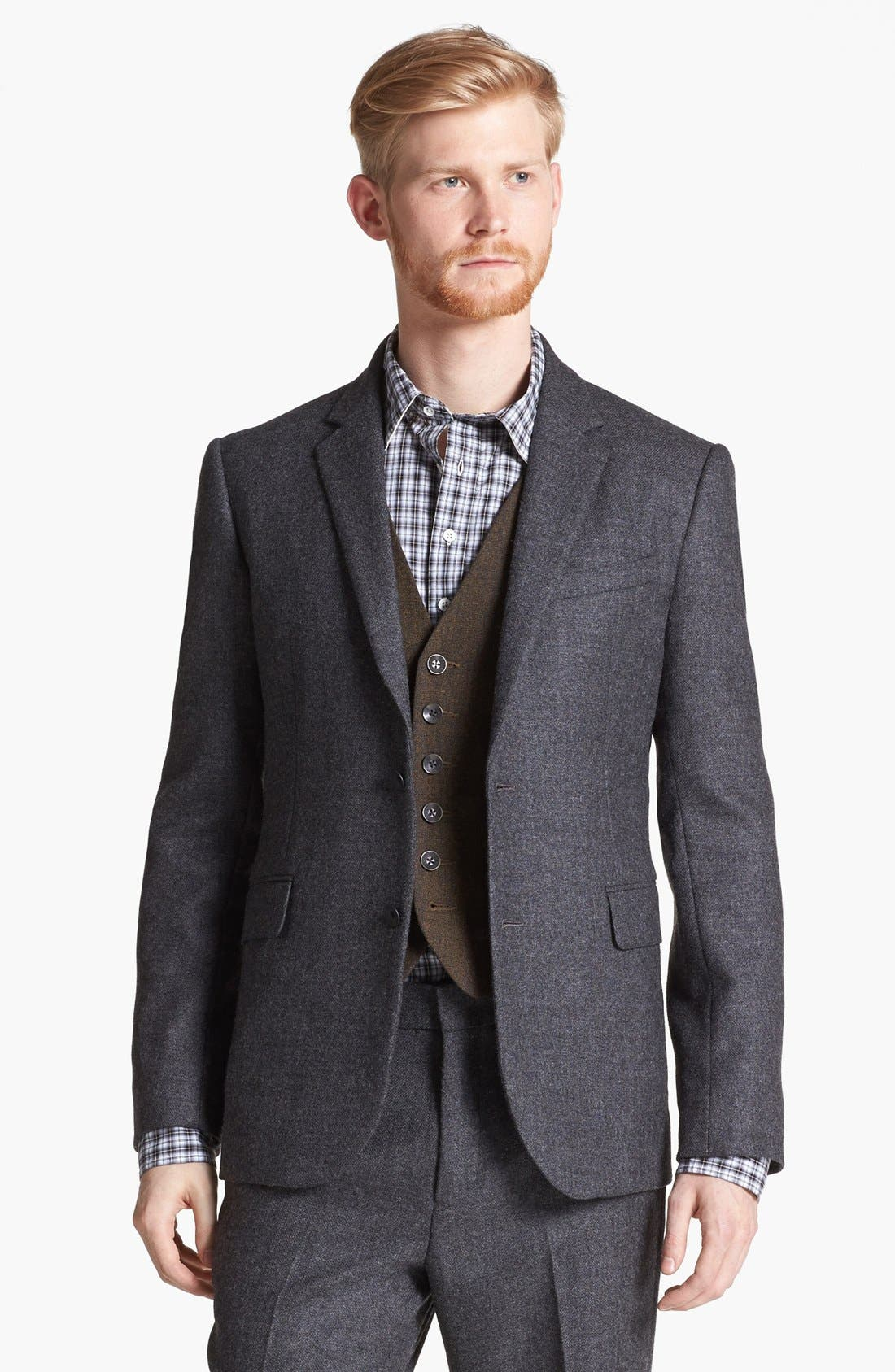 Alternate Image 4  - rag & bone Trim Fit Wool Suit