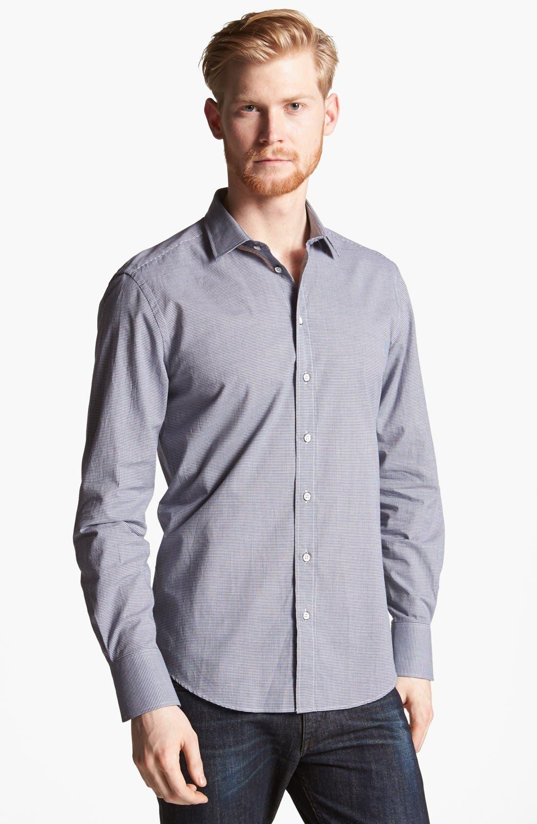 Alternate Image 1 Selected - rag & bone 'Charles' Micro Gingham Woven Shirt